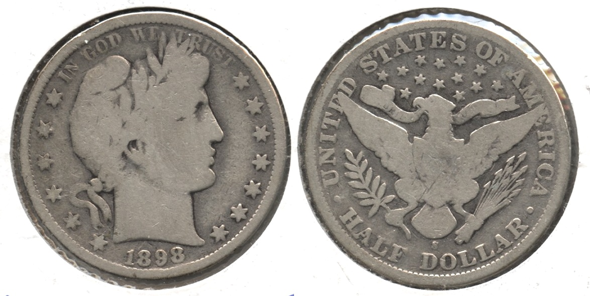 1898-S Barber Half Dollar Good-4 #a