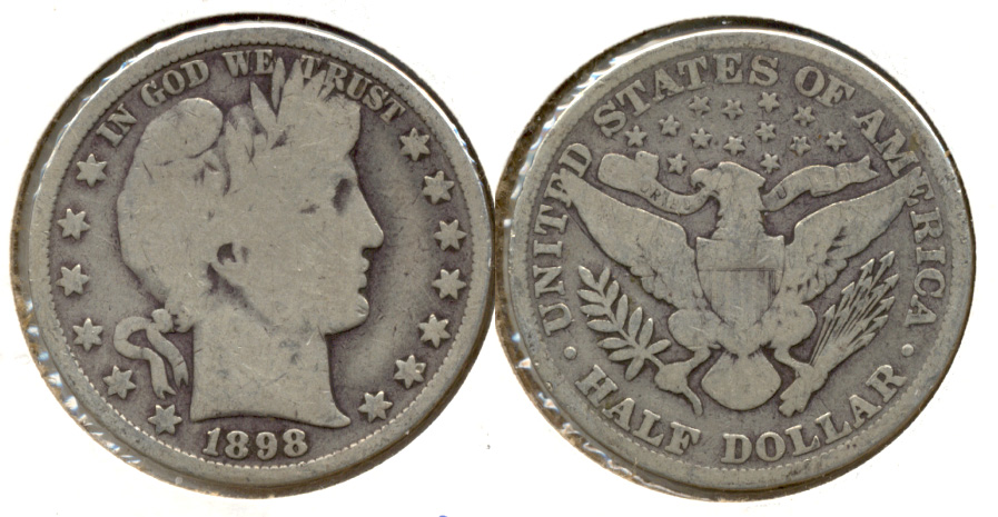 1898 Barber Half Dollar Good-4