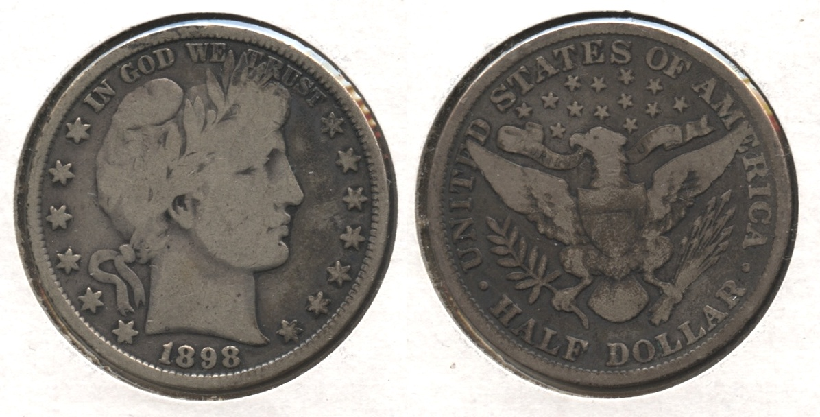 1898 Barber Half Dollar Good-6 #a