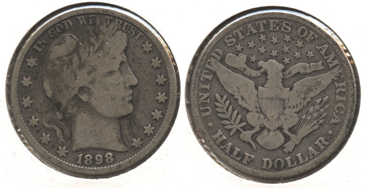 1898 Barber Half Dollar Good-6 #b