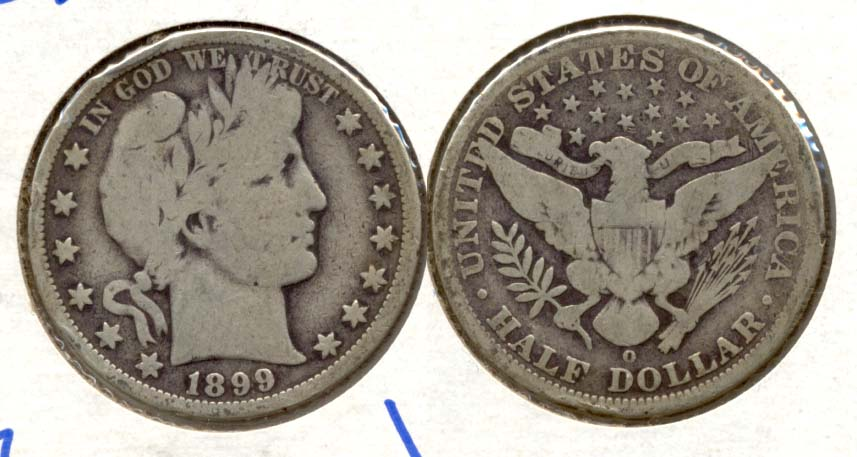 1899-O Barber Half Dollar Good-6 Rim Bump