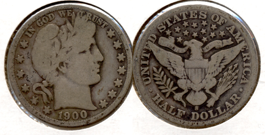 1900-S Barber Half Dollar Good-4 a