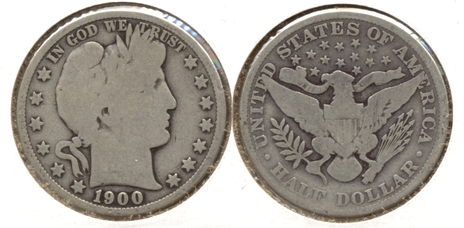 1900 Barber Half Dollar Good-4 g