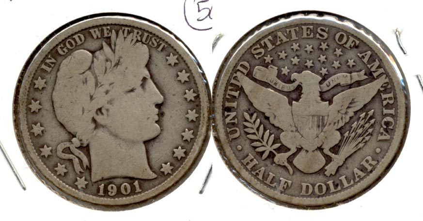 1901 Barber Half Dollar Good-4