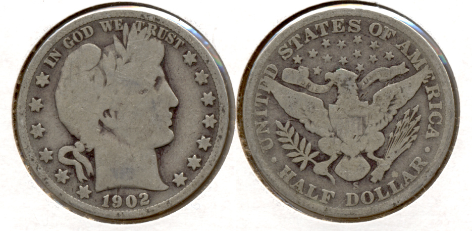 1902-S Barber Half Dollar Good-4 b