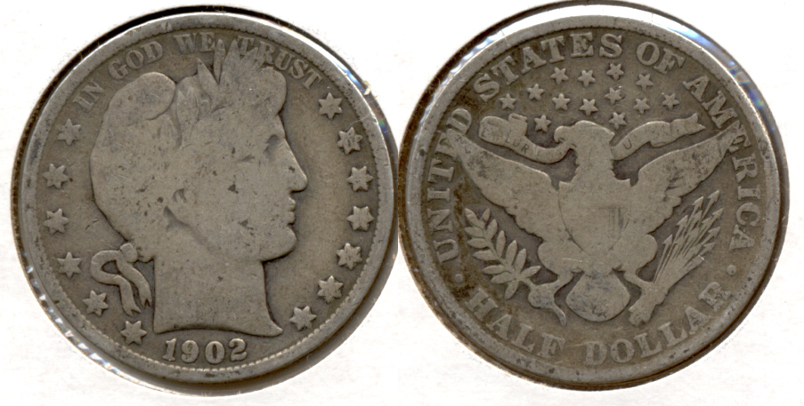 1902 Barber Half Dollar Good-4 b