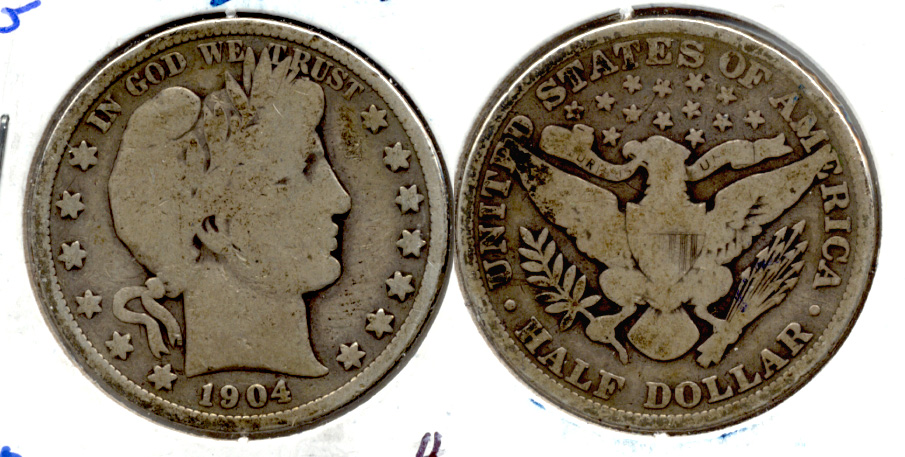 1904 Barber Half Dollar Good-4 c