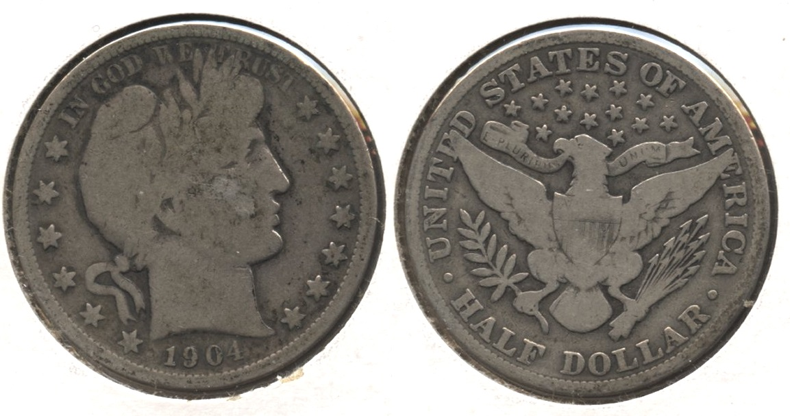 1904 Barber Half Dollar Good-4 #h