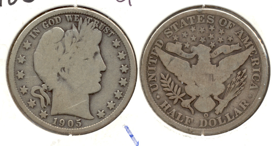 1905-O Barber Half Dollar Good-6 Rim Bump