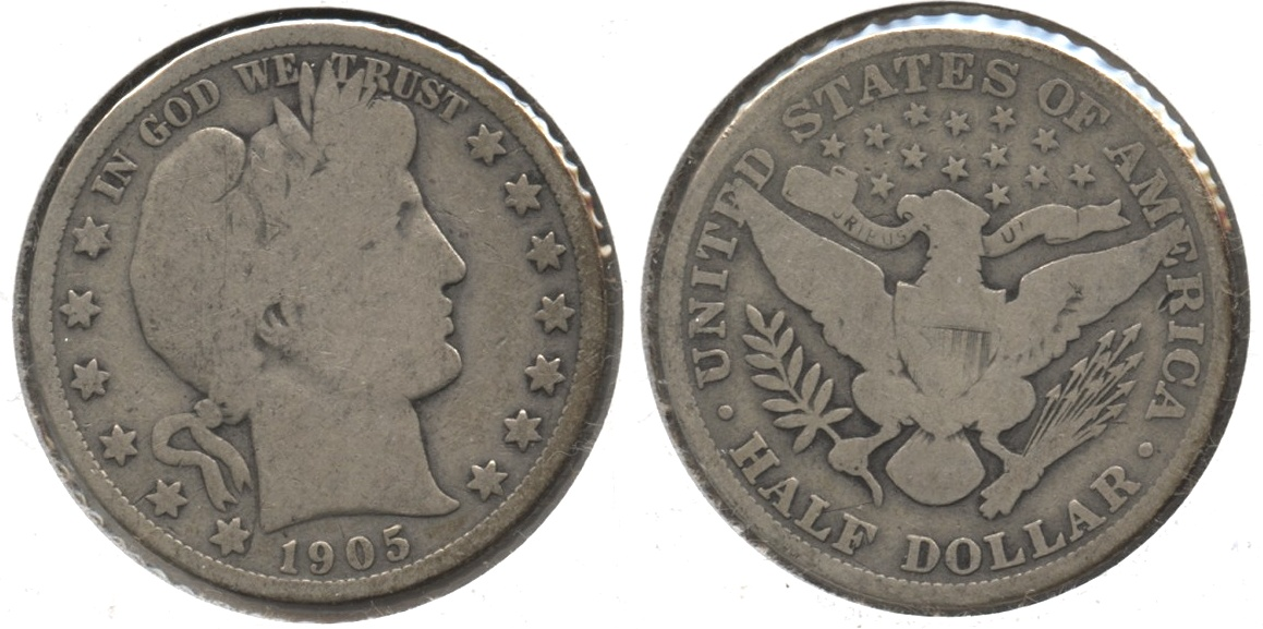 1905 Barber Half Dollar Good-4 #d