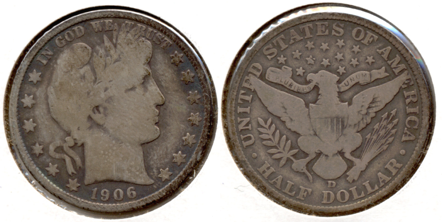 1906-D Barber Half Dollar Good-4 e