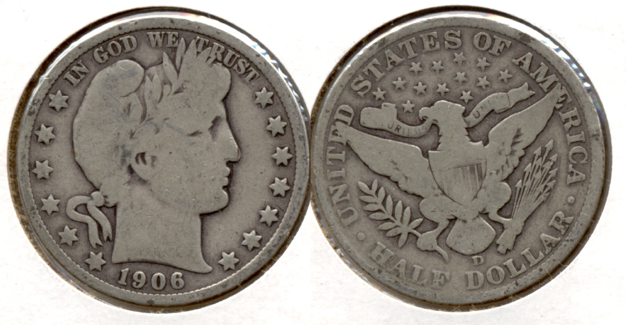 1906-D Barber Half Dollar Good-4 j