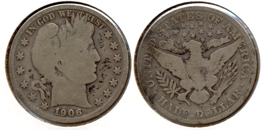 1906-O Barber Half Dollar Good-4 b