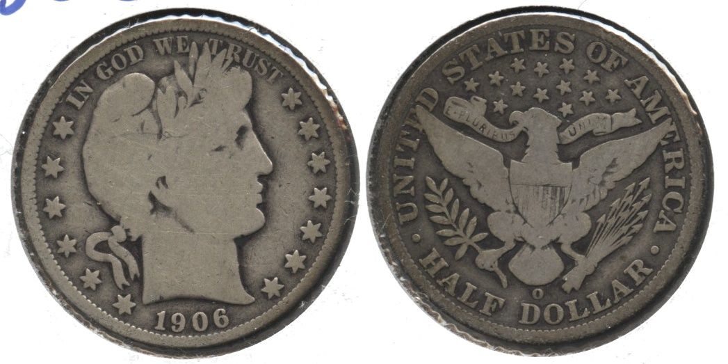 1906-O Barber Half Dollar Good-4 #f