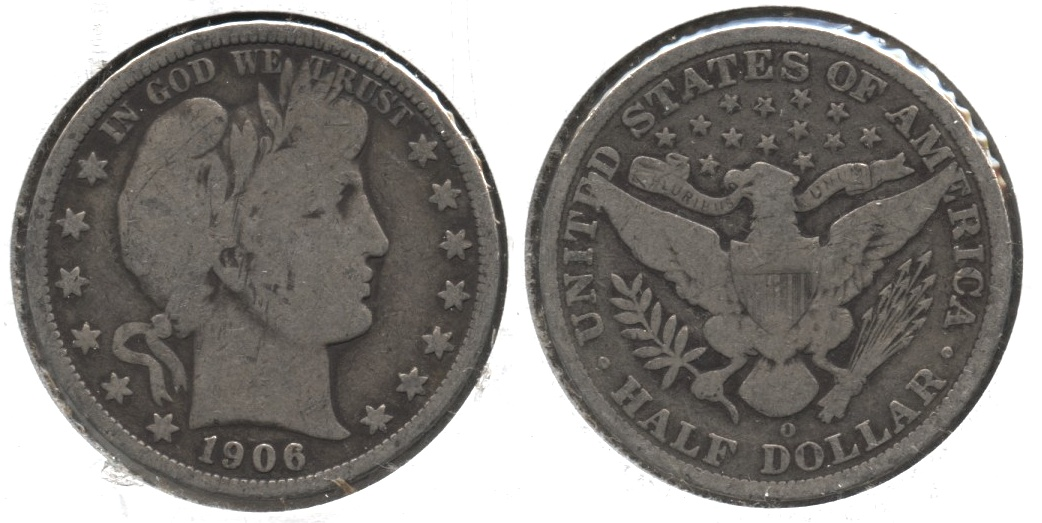 1906-O Barber Half Dollar Good-6 #a