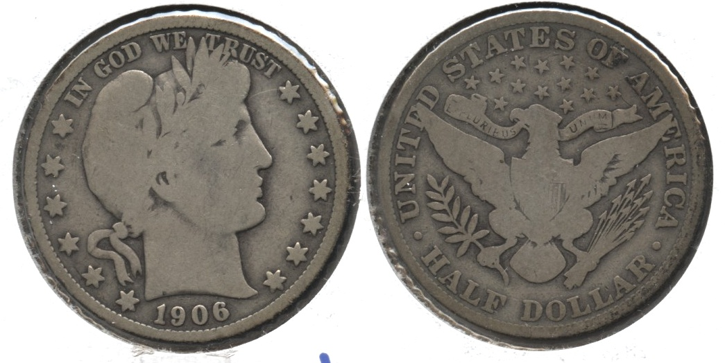 1906 Barber Half Dollar Good-4 #h