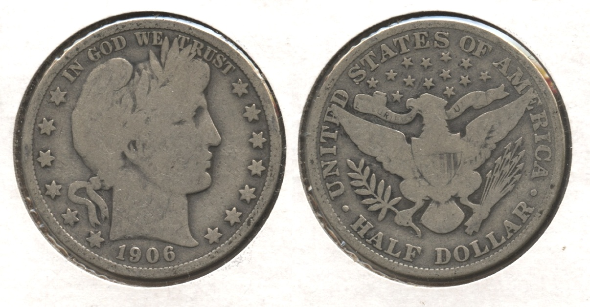 1906 Barber Half Dollar Good-4 #p