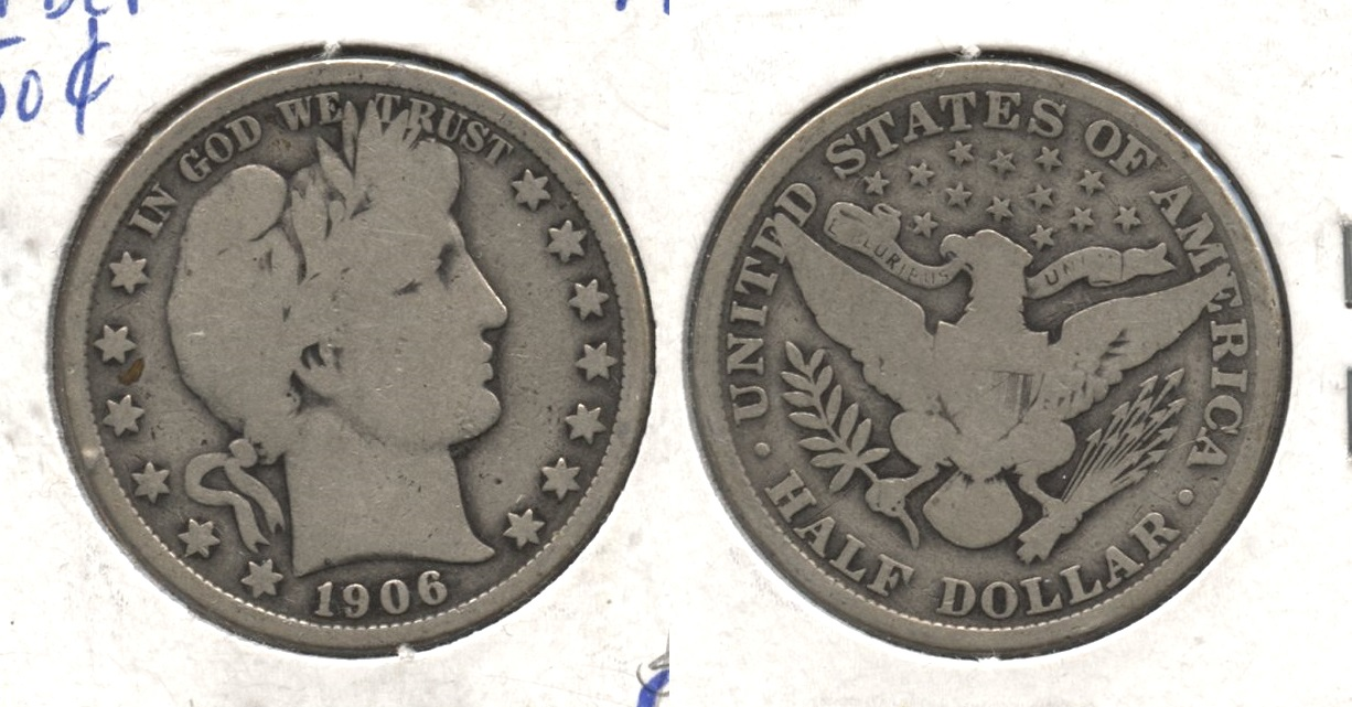 1906 Barber Half Dollar Good-4 #t