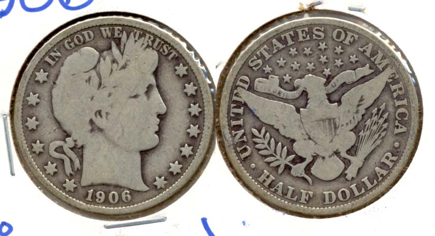 1906 Barber Half Dollar Good-6
