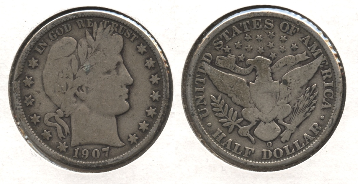 1907-O Barber Half Dollar Good-4 #k