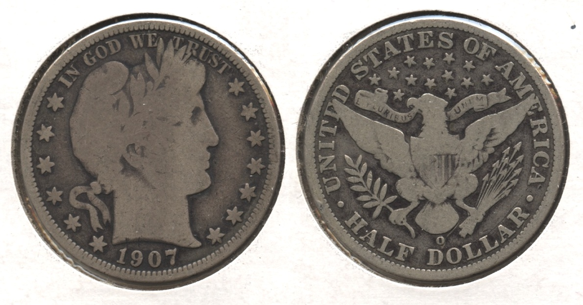 1907-O Barber Half Dollar Good-4 #p