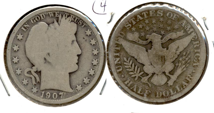 1907 Barber Half Dollar Good-4