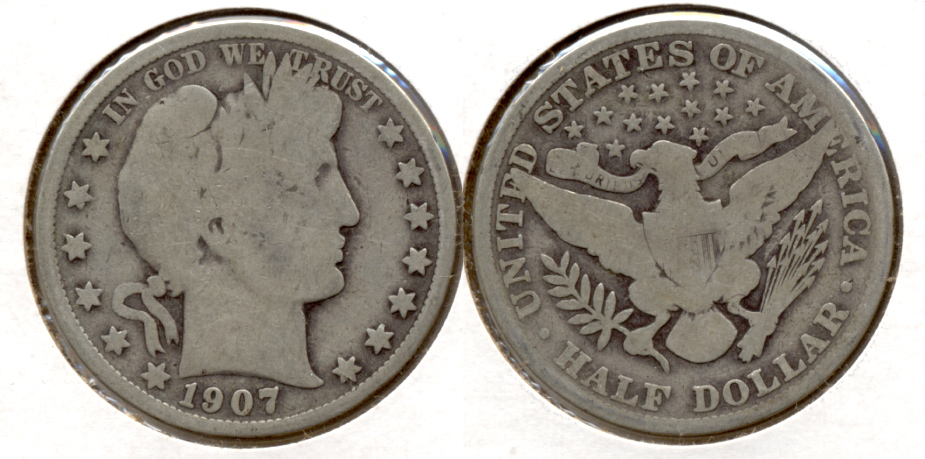 1907 Barber Half Dollar Good-4 d