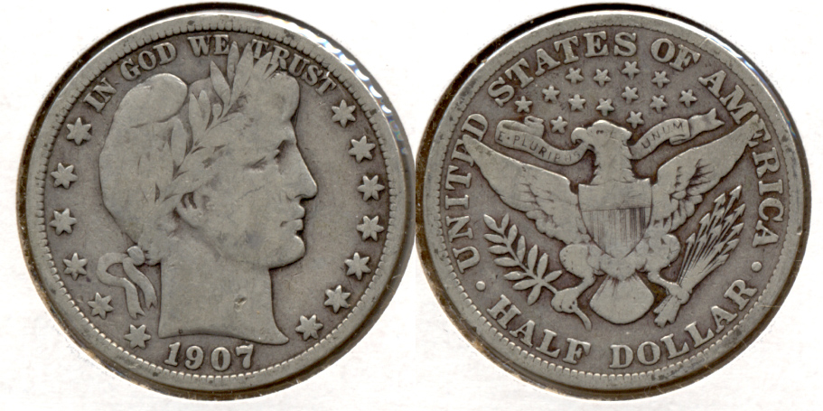 1907 Barber Half Dollar Good-6 c