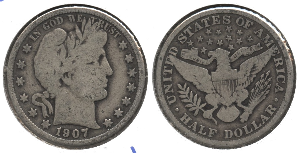 1907 Barber Half Dollar Good-6 #d