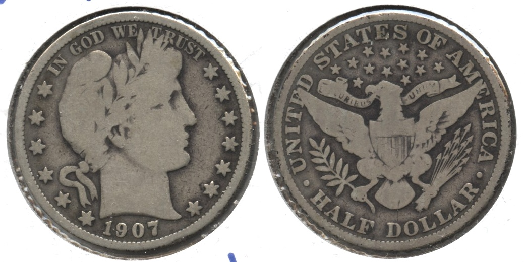 1907 Barber Half Dollar Good-6 #e