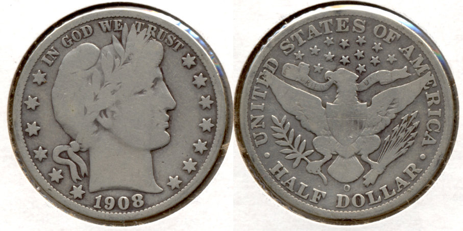 1908-O Barber Half Dollar Good-4 h