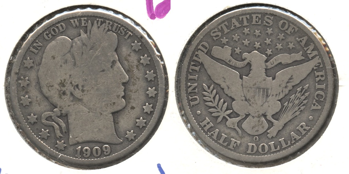1909-O Barber Half Dollar Good-4
