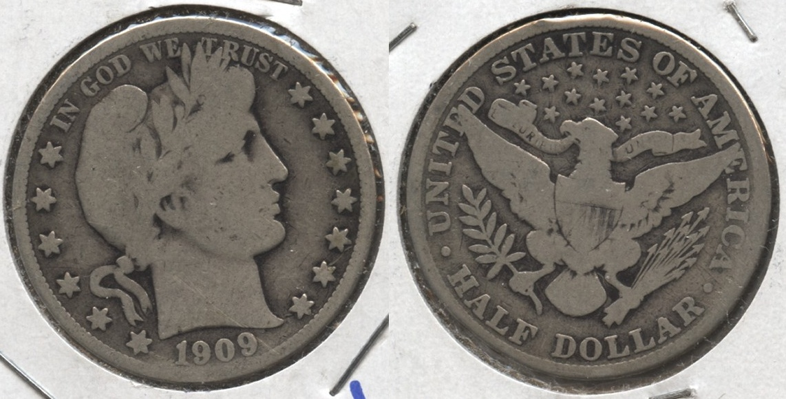 1909 Barber Half Dollar Good-4 #d