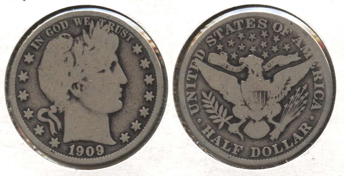 1909 Barber Half Dollar Good-4 #e