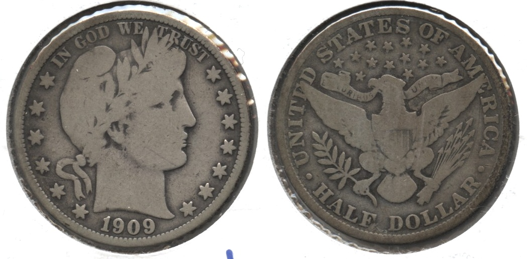 1909 Barber Half Dollar Good-6 #d