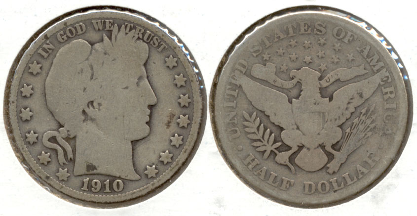 1910 Barber Half Dollar Good-4 j