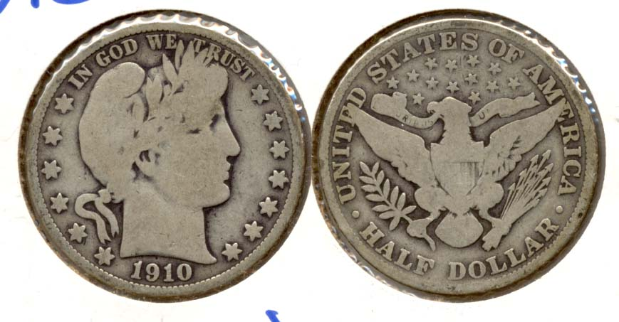 1910 Barber Half Dollar Good-4 n