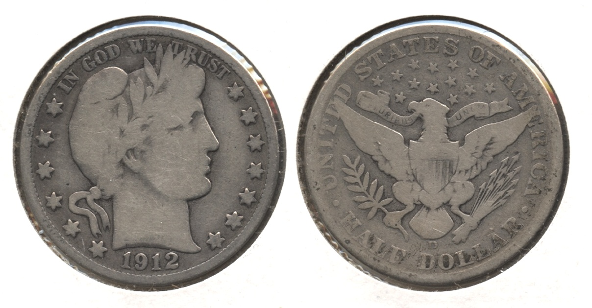 1912-D Barber Half Dollar Good-6 #d
