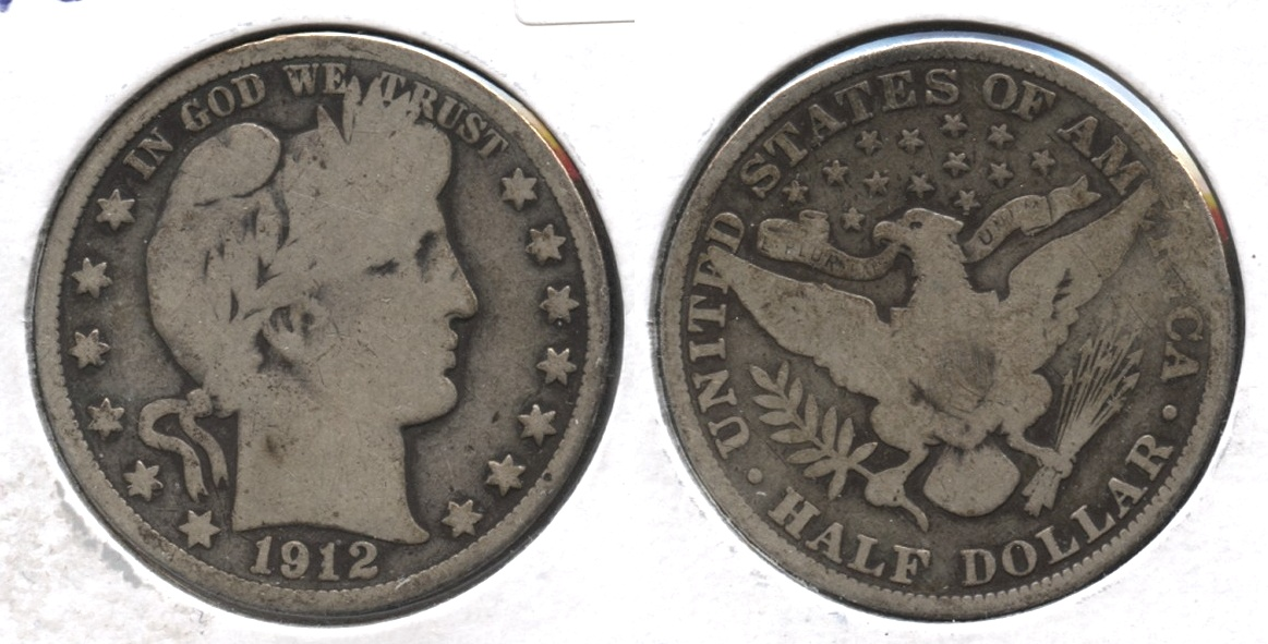 1912 Barber Half Dollar Good-4 #f