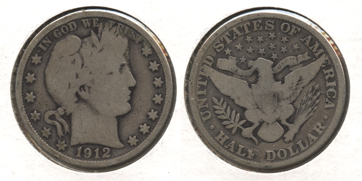 1912 Barber Half Dollar Good-4 #j