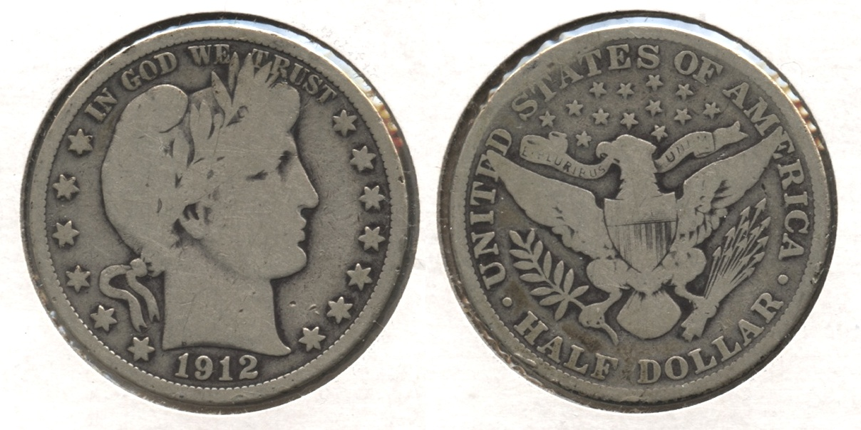 1912 Barber Half Dollar Good-4 #k