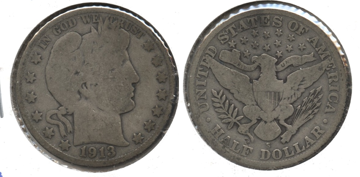 1913-S Barber Half Dollar Good-4 #e