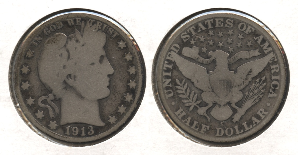 1913-S Barber Half Dollar Good-4 #f