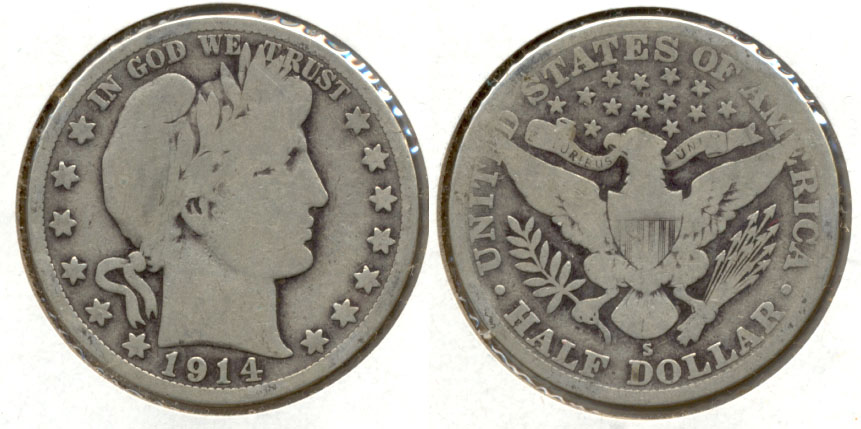 1914-S Barber Half Dollar Good-4 d