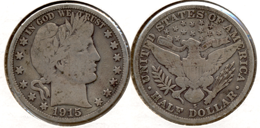 1915-S Barber Half Dollar Good-6 c