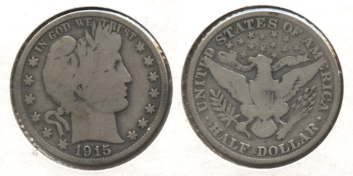 1915 Barber Half Dollar Good-4 #a