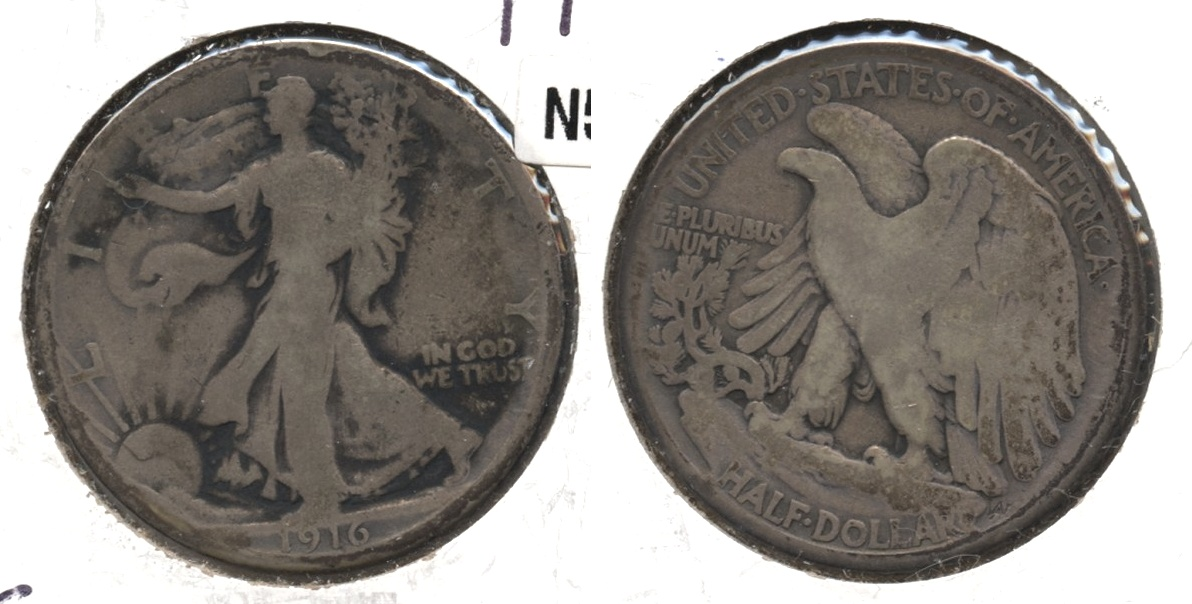 1916 Walking Liberty Half Dollar Good-4 #g