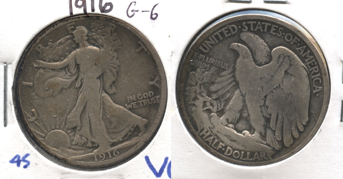 1916 Walking Liberty Half Dollar Good-6