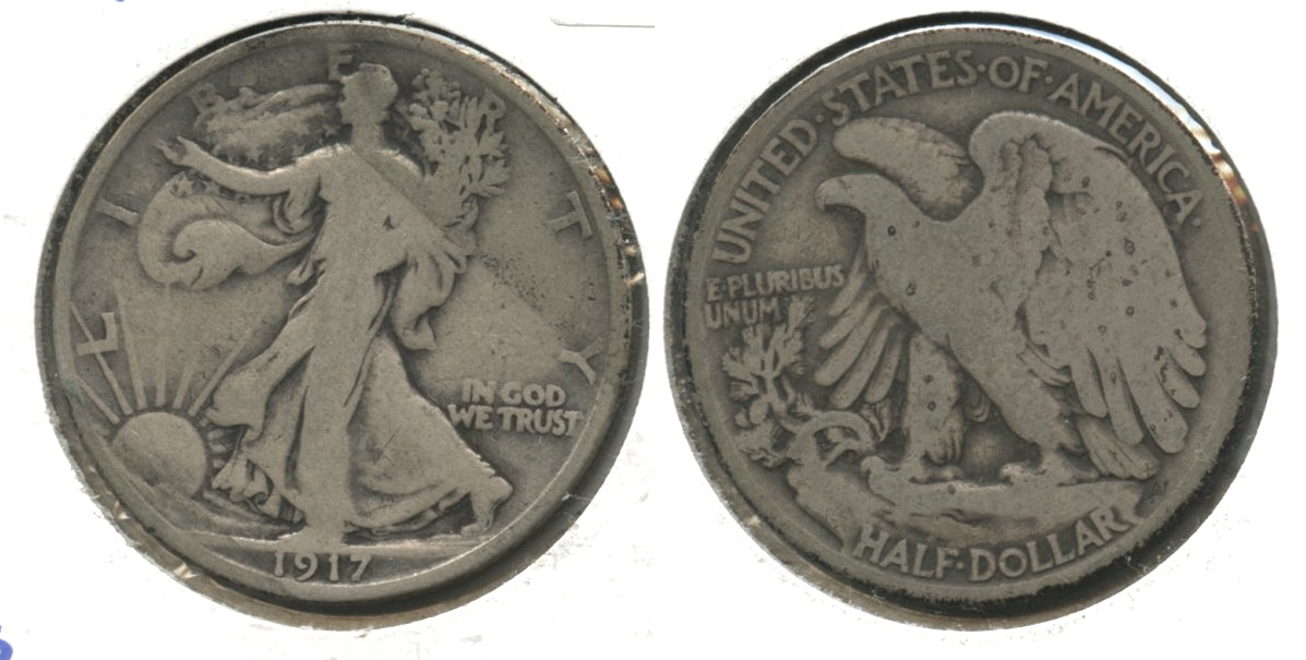 1917 Walking Liberty Half Dollar Good-4 #ak