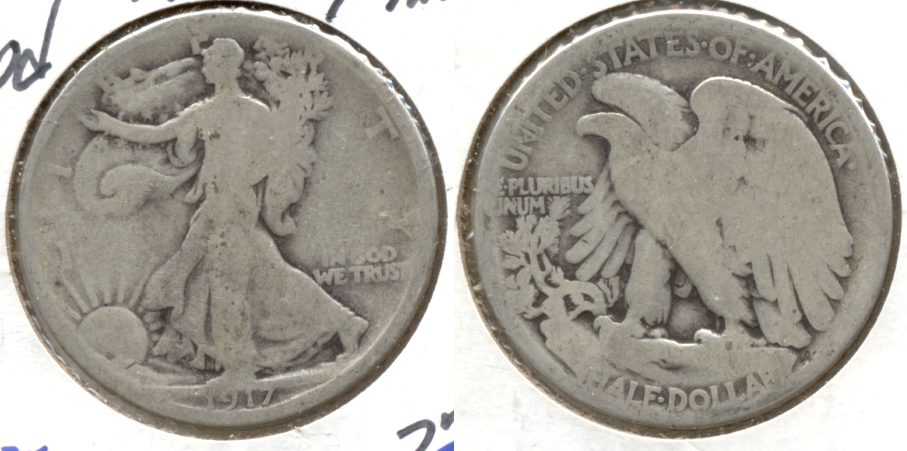 1917 Walking Liberty Half Dollar Good-4 c